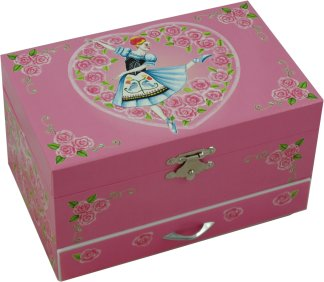 Doll On A Music Box Musical Jewellery Box
