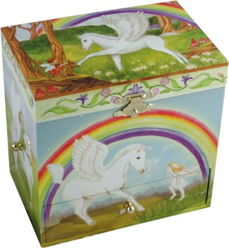 Pegasus Musical Jewellery Box