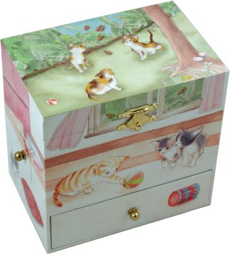 Curious Kittens Musical Jewellery Box