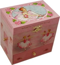 Girls Ballerina Musical Jewellery Boxes