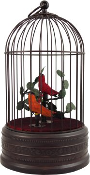 Antiqued Finish Singing Bird Cage